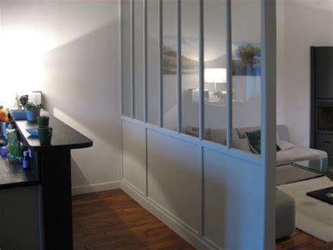 cloison vitree cuisine cloison vitre bois meubles et boiseries