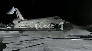 Space Shuttle Moon Landing CGI HD: Royalty-free video and ...