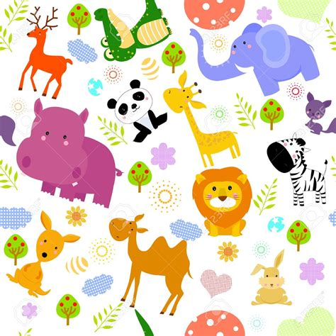 Wallpaper With Animals For Rooms - baby animal clipart room wallpaper free clipart on