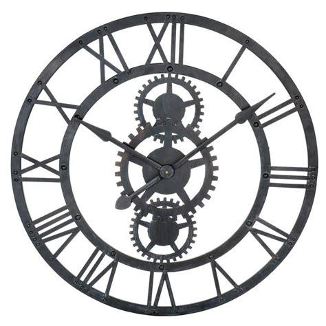 horloge maison du monde maison du monde ambiance industrielle horloge en m 233 tal d 76 cm temps modernes dimensions