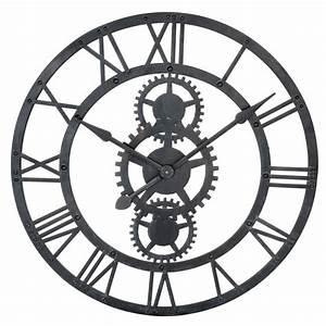 Maison Du Monde Horloge Murale : horloge en m tal noire d 76 cm salons pinterest temps modernes m tal noir et horloge ~ Teatrodelosmanantiales.com Idées de Décoration