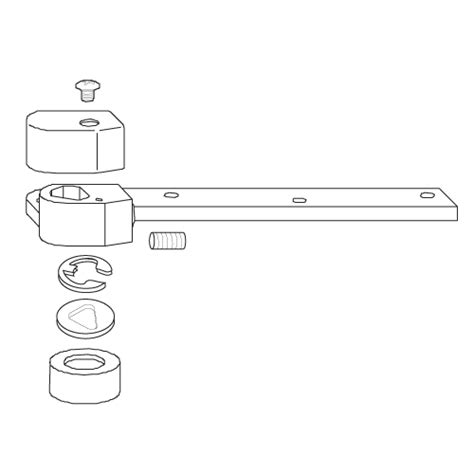 rixson 1 1 2 offset bottom arm package 252060 epivots