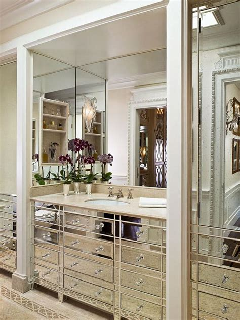 bathroom vanity decorating ideas mirrored bathroom vanity transitional bathroom