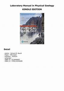 Kindle  Laboratory Manual In Physical Geology