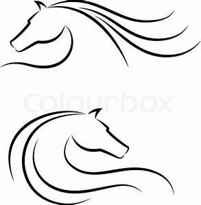Pferdekopf Schwarz Weiß : pferdekopf emblem vektorgrafik colourbox ~ Watch28wear.com Haus und Dekorationen