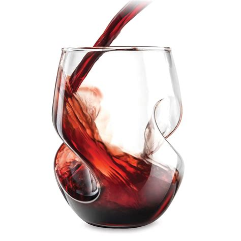 aerating stemless wine glasses the green