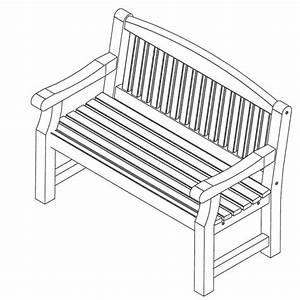 banc de jardin en bois 3 places With plan de banc de jardin en bois