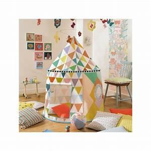 Cabane Chambre Fille : tente djeco cabane multicolore livraison gratuite 58 70 ~ Teatrodelosmanantiales.com Idées de Décoration