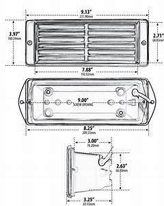 12v Stainless Steel Louvered Step Light
