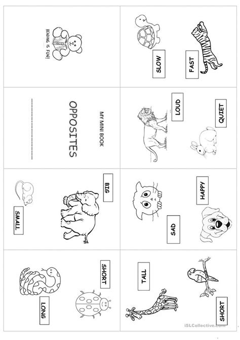 book opposites worksheet free esl printable worksheets made by teachers