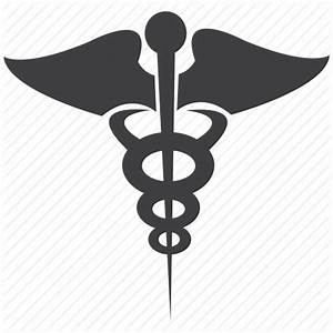 Caduceus silhouette, medical caduceus, pharmacy icon ...
