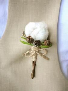 Bouquet Fleur De Coton : jolie boutonni re avec une fleur de coton d co naturelle by dpb pinterest bouquet ~ Teatrodelosmanantiales.com Idées de Décoration