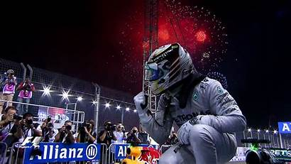 Hamilton Lewis Singapore Wallpapers Celebration Win Formula