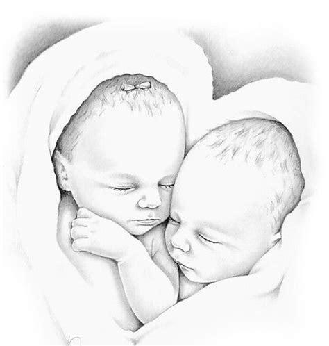 Tweeling Kleurplaten by Baby Kleurplaten Baby Kleurplaten Drawings