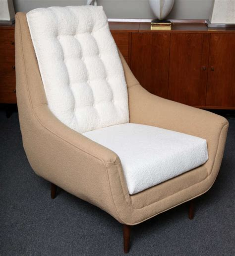 high back club chair with ottoman grand pair of 50 39 s high back lounge chairs with ottoman at