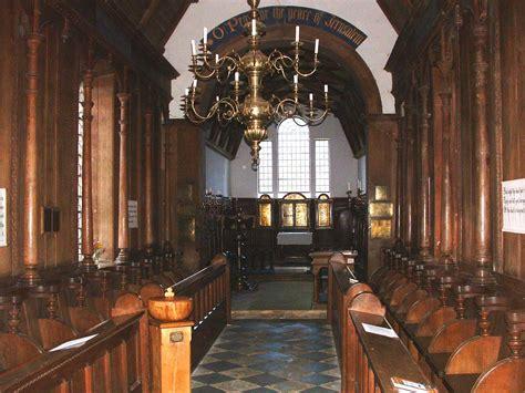 december pilgrimage  gidding church  interior