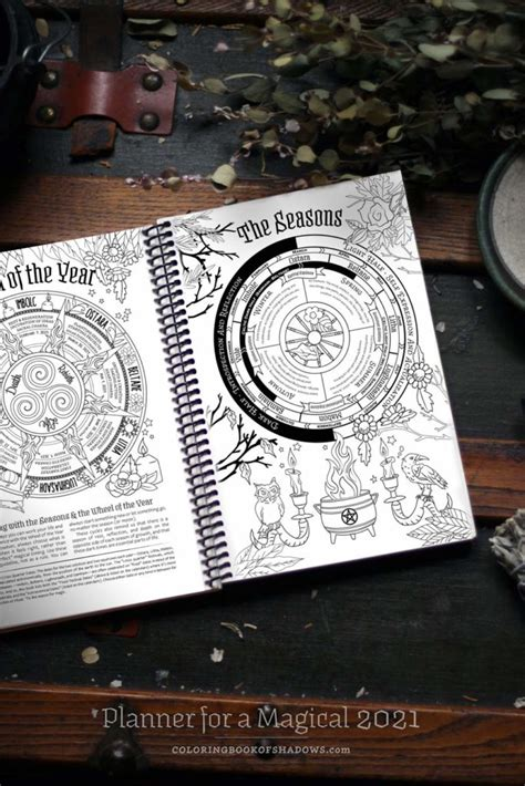 planner   magical  coloring book  shadows