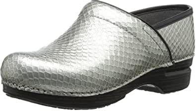 amazoncom dansko womens pro xp clog silver anaconda