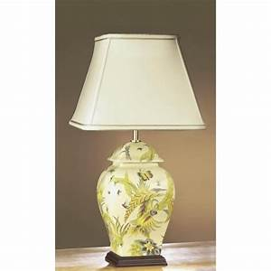 ceramic yellow green floral temple jar table lamp with With mr p table lamp uk