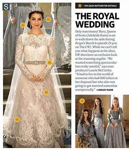 mary queen of scotland39s wedding dress in 39reign39 so With queen mary wedding dress