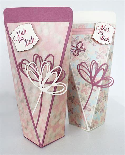geschenkbox selber basteln anleitung duschgelverpackung basteln box verpackung stin up