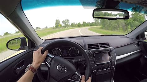 toyota camry  xse wr tv pov test drive youtube