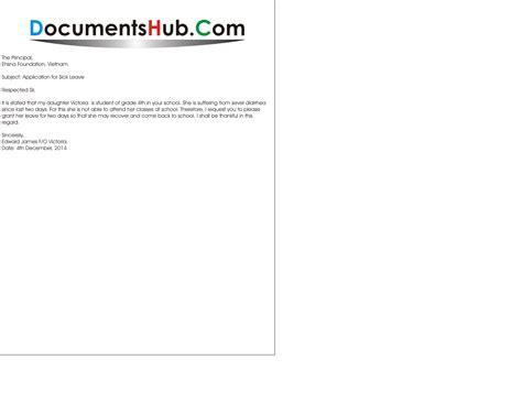 sick leave application sample  students documentshubcom