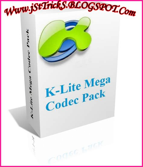 This pack has all the possible codecs that you'd need for your video and audio files! K-Lite Mega Codec Pack 9.90 Full - Software