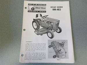 10 Old Wheel Horse Rotary Mower Manuals  All Different