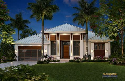 Single Story Mediterranean House Plans Bungalow Caribbean