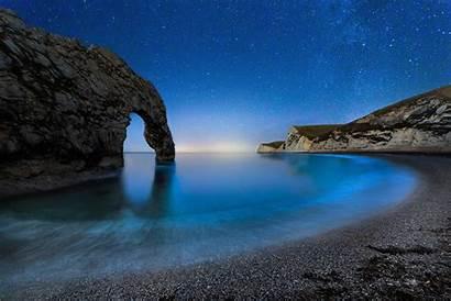 Night Starry Door Durdle Sky Ocean Sea