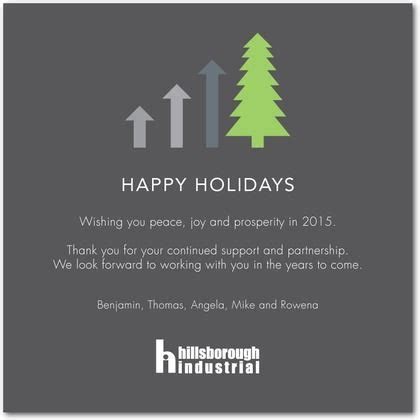 upward trend business holiday cards  charcoal