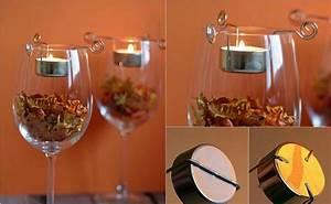 Herbstdeko Selbst Gemacht : herbstdeko selber machen teelichthalter weinglas zuhause dekor ideen ~ Orissabook.com Haus und Dekorationen