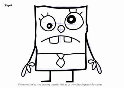 Spongebob Draw Squarepants Doodlebob Step Drawing Drawings