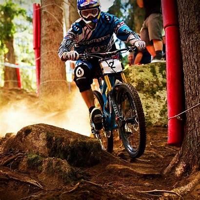 Downhill Mountain Bike Bicyclist Irregularities Cross