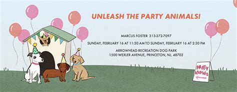 pet party animal themed  invitations evite