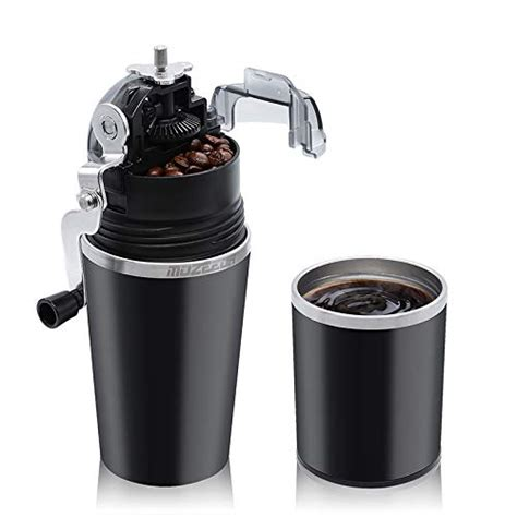Instead of having a separate coffee grinder and a coffee maker, why not go for a coffee maker with grinder. MOZEEDA Portable Manual Coffee Grinder, 2-in-1 Stainless Steel Coffee Maker with Filter for ...