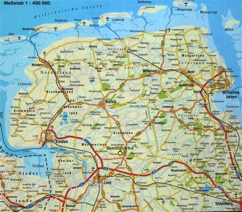 Beningafehn Online - Touristik - Ostfrieslandkarte