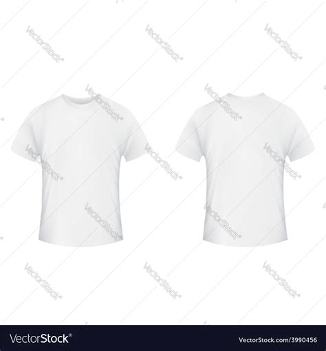 front and back template tshirt blank t shirt template front and back side on a vector image