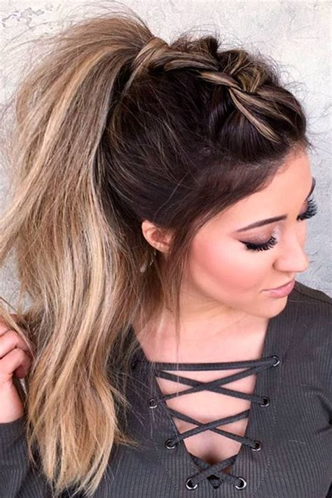 Hairstyle Ideas by 59 Easy Ponytail Hairstyles For School Ideas Hairstylest