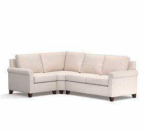 cameron roll arm upholstered 3 piece sectional with wedge With 3 piece sectional sofa with wedge