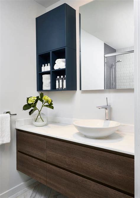 Contemporary Bathroom Cabinet by Dressing Room Wall Cabinet Contemporary Style Navy Cabinet