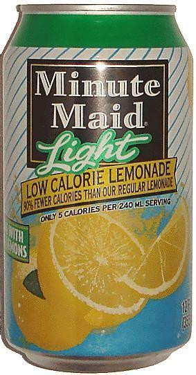 minute light lemonade calories minute lemon soda diet 355ml light low calorie