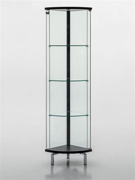 bureau d angle en verre parella 6429 vitrine d 39 angle tonin casa en bois et verre