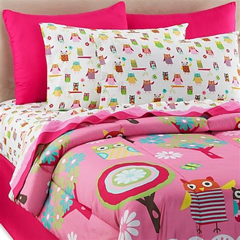 owl comforter set owl ditsy 6 8 comforter and sheet set bed