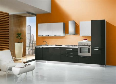 cuisine orange et noir cuisine orange 50 idées d 39 aménagement stimulantes