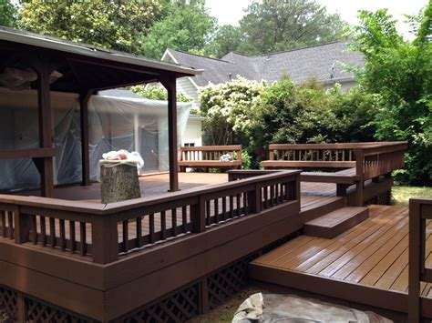 lawn garden backyard deck ideas together with ground