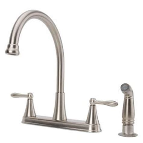 fontaine 2 handle high arc standard kitchen faucet with