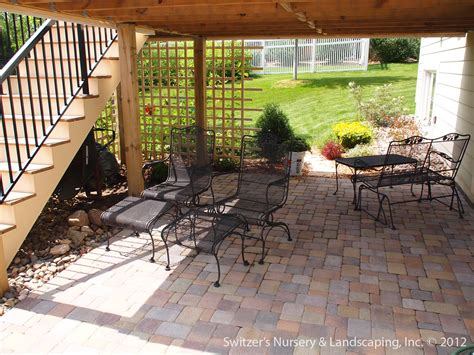 paver patio  deck  retaining wall steps minne