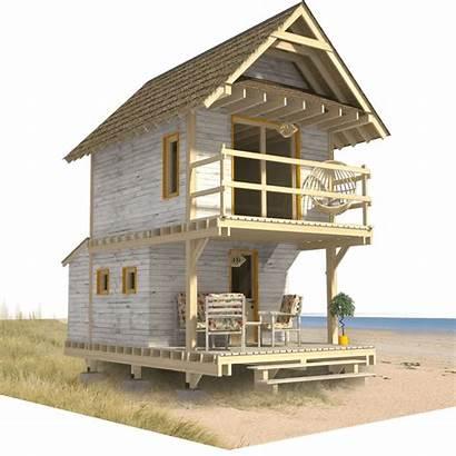 Plans Cabin Tiny Cottage Floor Homes Loft